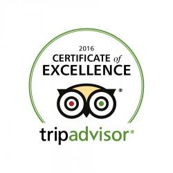 TripAdvisor Certificate of Excellence 2016 - Medium